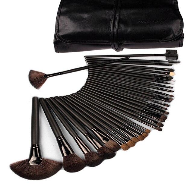 2016 новое поступление Горячей Продажи 32 Шт. тени для век кисти для макияжа инструменты косметические Кисти Макияж с Кожаный Чехол