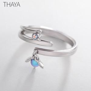 Image 3 - Thaya Sommernachtstraum Design Ringe Vintage Farbige Perlen S925 Sterling Silber Schmuck Ring Für Frauen