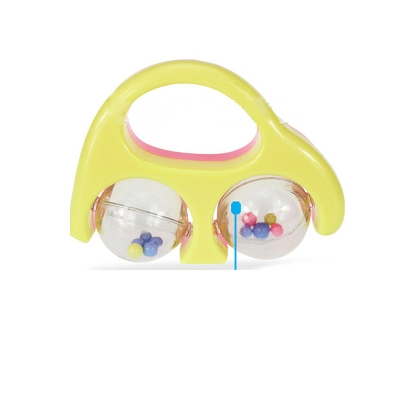 Baby Toys Plastic Hand Jingle Shaking Bell Lovely Hand Shake Bell Ring Baby Rattles Toys Newborn 0-12 Mnoths Teether Toys