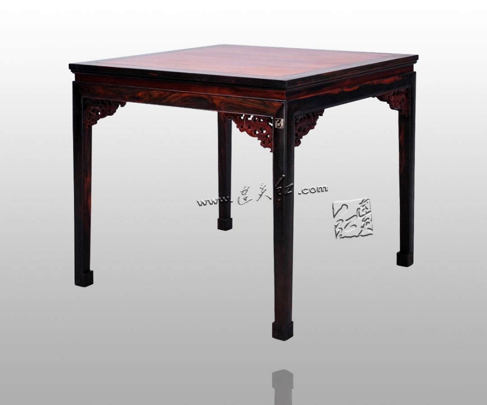 Brand New Rosewood Square Table Home Living Dining Room Furniture Redwood 4 seats Desk Annatto Fitment Solid wood free shipping led bar table plastic luminous furniture high cocktail drinking table for living room dining room garden club party desk