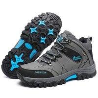 Papa Chen Chaussures de Course haute qualité en cuir hommes Sneakers Gris Kaki Olive 3 couleurs montagne chaussures de Sport Divertissement