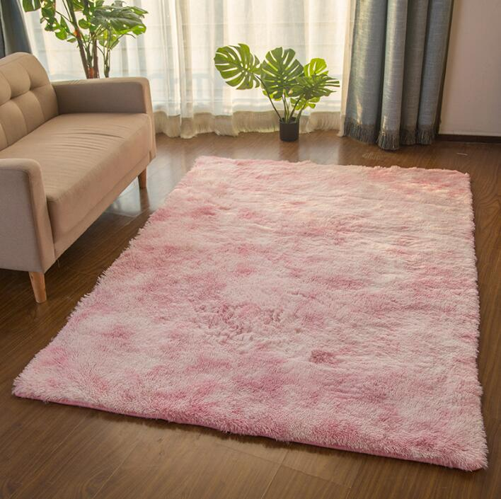 Variety tie dye tapered carpet living room tea table mat net red long hair washable bedroom free shipping in Rug from Home Garden