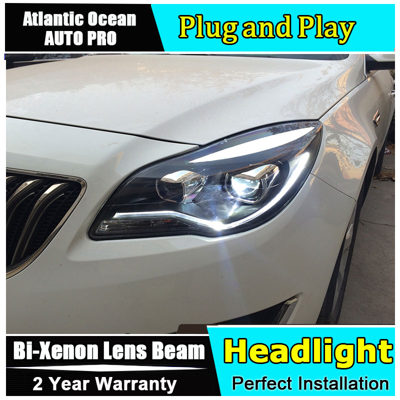 Car Styling LED Head Lamp for Opel Insignia headlights 2014-2015 new arrival led drl HID KIT Bi-Xenon Lens low beam hireno headlamp for 2016 hyundai elantra headlight assembly led drl angel lens double beam hid xenon 2pcs