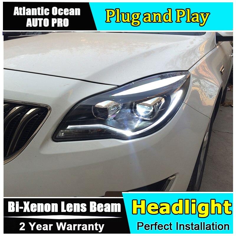 Phare de voiture style LED pour Opel Insignia phares 2014 2015 nouveauté LED drl HID KIT bi xénon lentille feux de croisement