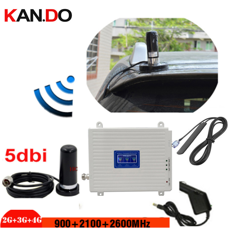 Limousine 2G 3G 4G Signal Repeater Car Gsm 3g 4g 900 2100 2600 WCDMA LTE Booster 2g 3g 4g REPEATER 2g 3g 4g BOOSTER For Vehicle