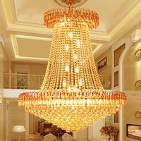 Modern Dining Lighting Gold Crystal Chandelier LED Home Lighting Living Room Crystal Wrought Iron Chandelier 110