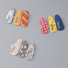 YYXUAN 3 pieces Goody Snap Hair Clips, Girl Printing Clips Metal Clip Barrettes for Girls with Patterns