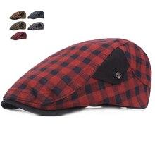 Летние береты, кепки для мужчин и женщин, хлопковые козырьки, шляпа от солнца, уличные мужские плоские шапки, регулируемые клетчатые береты для взрослых, Casquette Boina, шапки