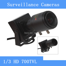 HD 700TVL 1/3 CMOS Mini CCTV Camera with 2.8-12mm Manual Lens for Video Color Security Surveillance