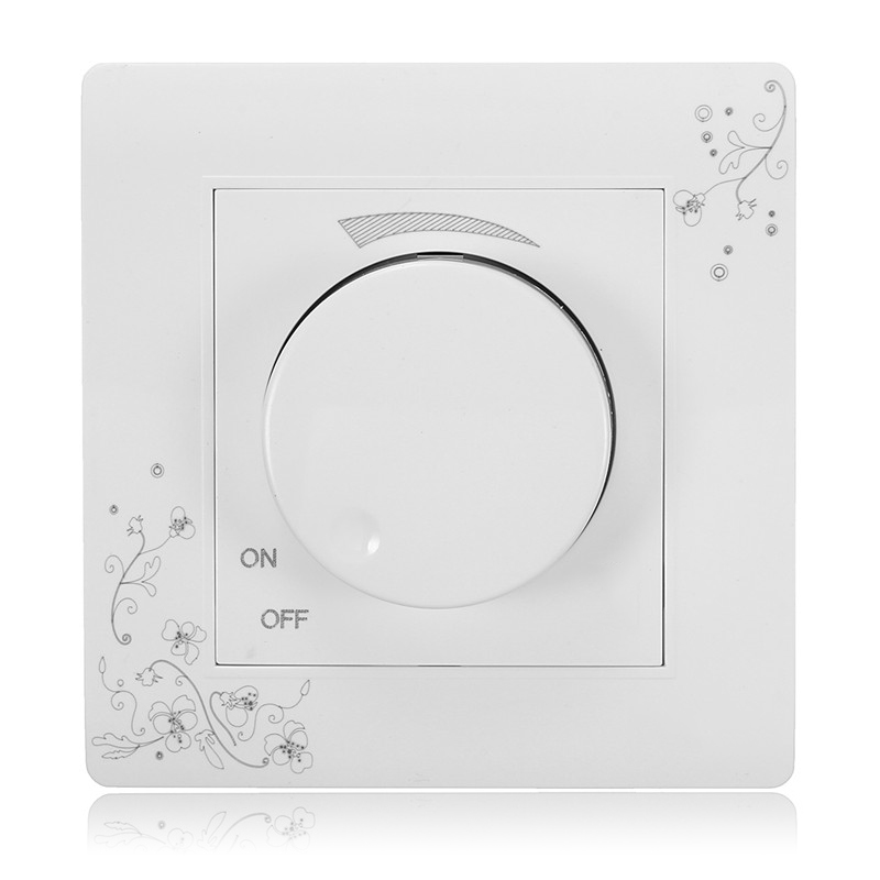 Kempinski Brand Luxury Wall Dimmer Switch, Ivory White, Brief Art Fashion Light Switch, AC 110~250V