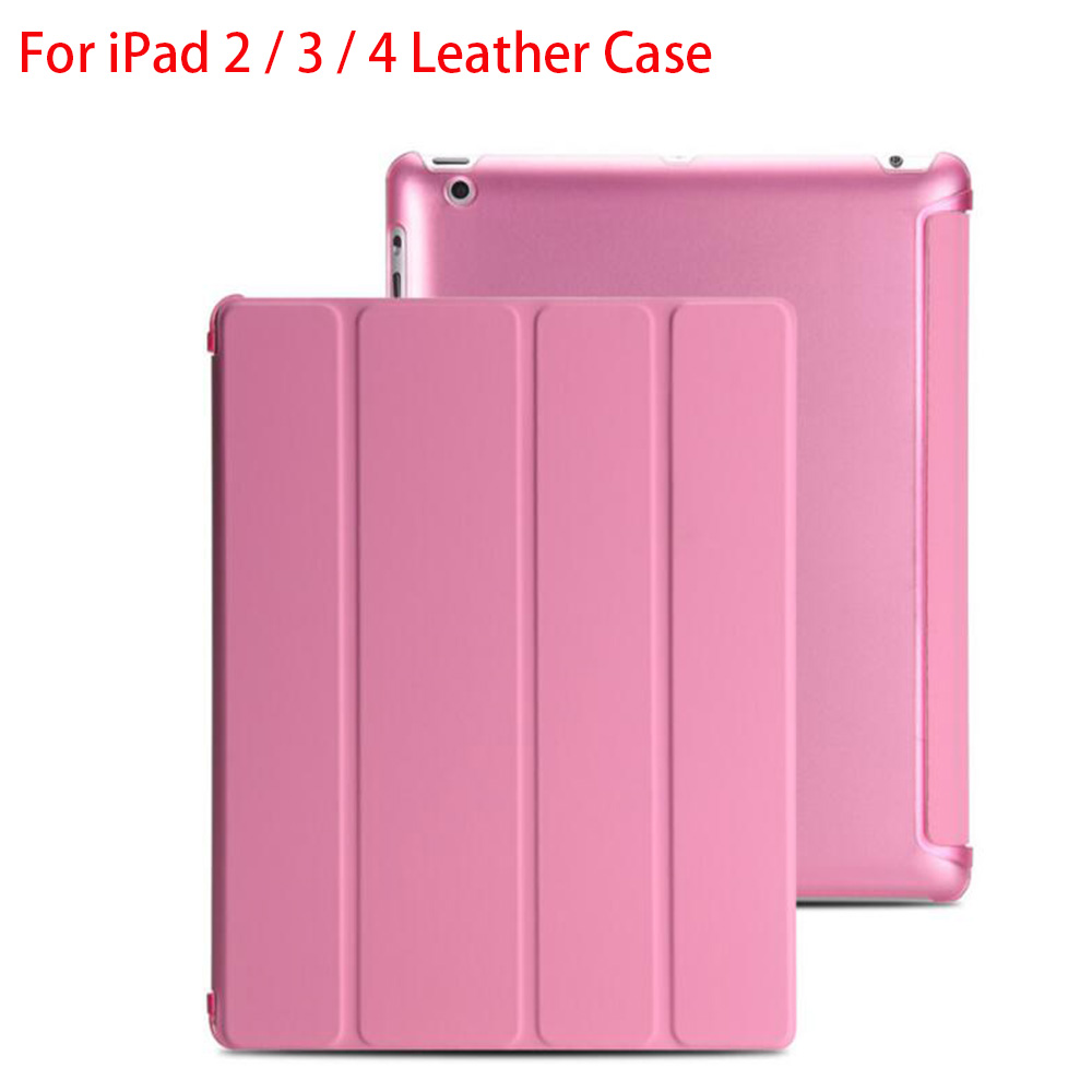 RYGOU For Apple iPad 2 3 4 case Ultra Slim intelligent protection one-piece Magnetic Smart Cover Leather shell Matte back case for ipad mini4 cover high quality soft tpu rubber back case for ipad mini 4 silicone back cover semi transparent case shell skin