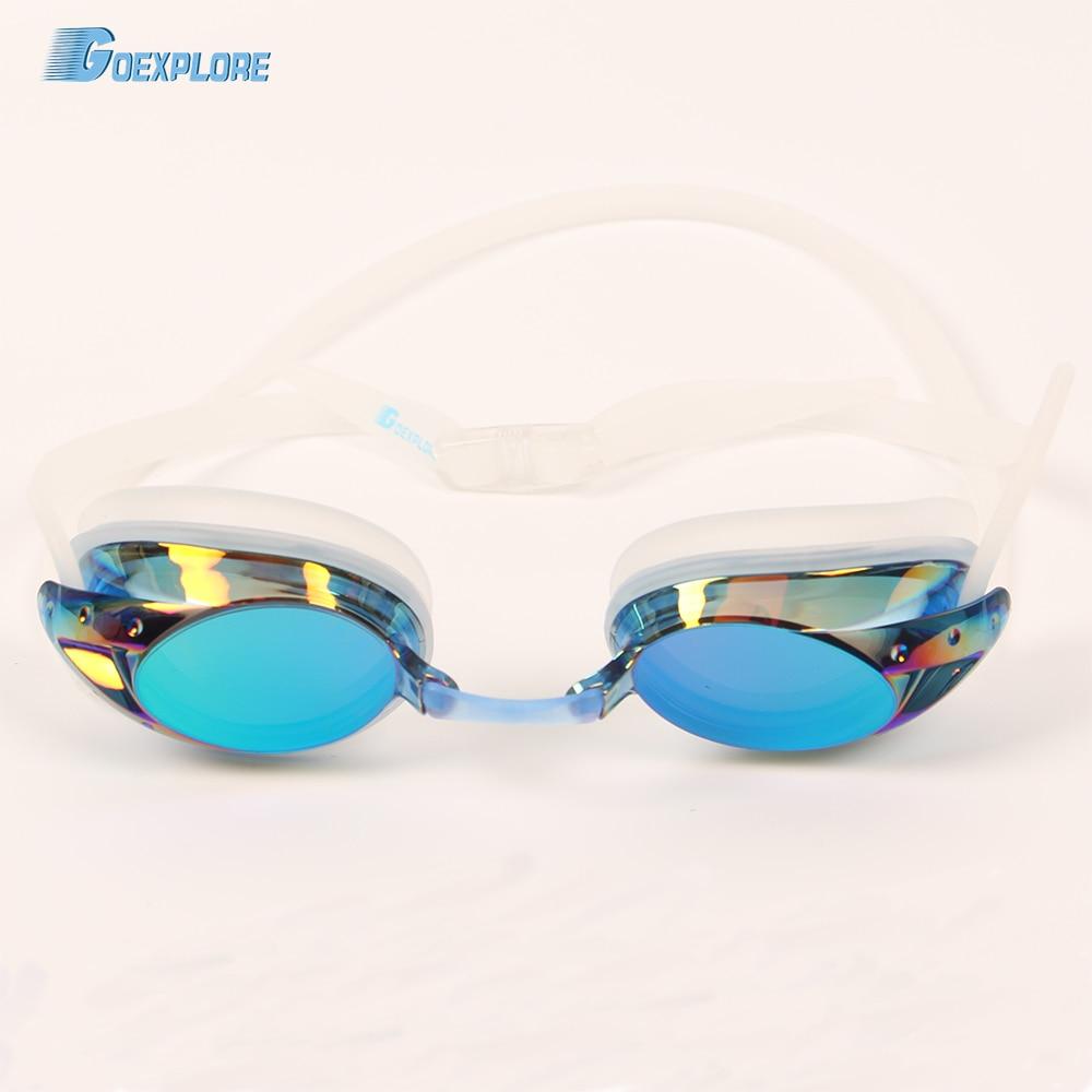 Goexplore Swim Goggle Adult 2018 Women Anti-fog UV Protection Natacion Profesional Waterproof Electroplate Swimming Glasses Men