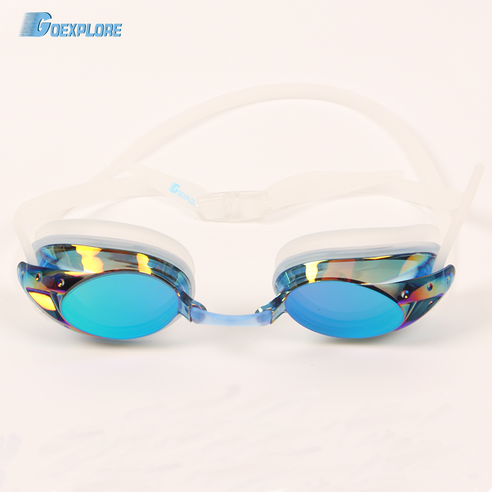 Goexplore Swim Goggle Adult 2018 Women Anti-fog UV Protection Natacion Profesional Waterproof Electroplate Swimming Glasses Men