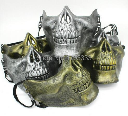 200pcs Hot Halloween Skull Mask Adult Masquerade Party Carnival Mask For Man Cool Face Costume