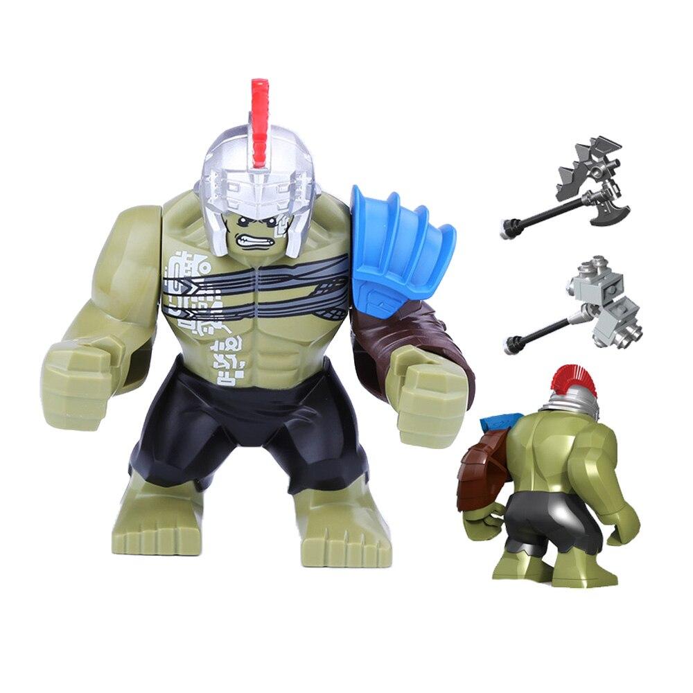 Купить с кэшбэком Figure Batman Marveling DC Building Blocks Bricks AvengersING Super Hero Hulk not Compatible LegoINGLY Duplo