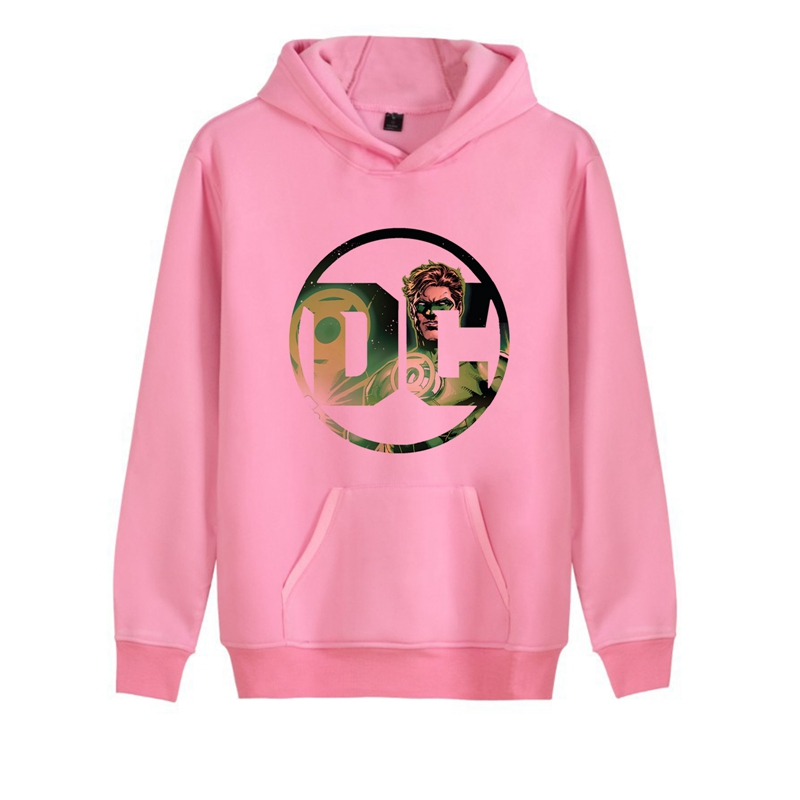 Justice League DC Anime Logo Printed Trendy Unisex Harajuku Hoodie with Kangaroo Pocket Winter Junior Pullover Leisure Fashion in Hoodies amp Sweatshirts from Men 39 s Clothing
