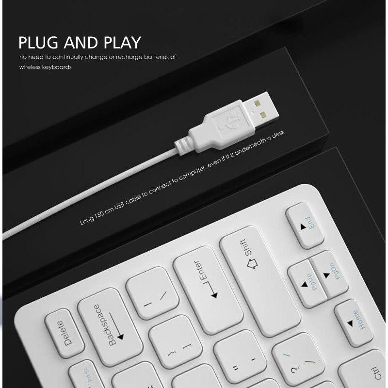 מחשבי כף יד   GPS B.O.W Wire מקלדת USB 78 מפתחות, מפתחות שוקולד שקטים נוחים, מקלדת שקטה Ultra-Slim הקטן עבור PC מחשב (5)