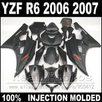 Hot sale bodywork for YAMAHA R6 fairing kit 06 07 Injection molding all matte black 2006 2007 YZF R6 fairings