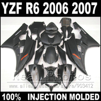 Hot sale bodywork for YAMAHA R6 fairing kit 06 07 Injection molding all matte black 2006 2007 YZF R6 fairings