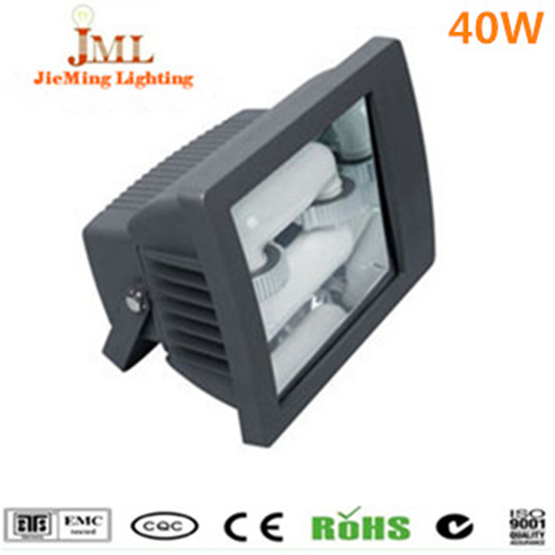Free Shipping Magnetic Induction Round Flood Light Fixture IP65 Waterproof 40W outdoor lighting aluminum induction flood lights