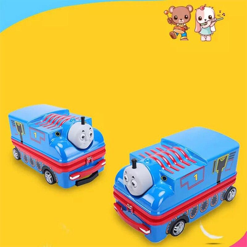Cartoon Transporter Garçons Tour Hardside Valise Sur Filles Jouet Enfants Mignon Voyage De Roulettes Bagages Bleu À Sac Anime Chariot zqOxxfwpA