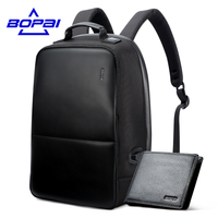Large Capacity Nylon Notebook Backpack 17 Inch Men Gift Fashion School Bags Unisex Black Leather Backpack
