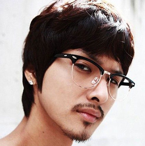 new design men retro round glasses half frame clear lens unisex classic plain optical eyewear classic