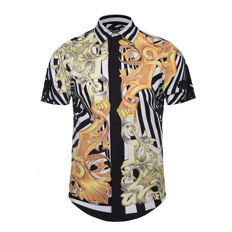 Summer Classical Decorative Pattern 3D Printing casual short sleeve men Shirt sleeveless Fashion Brand Youth Hip-hop Man Shirt