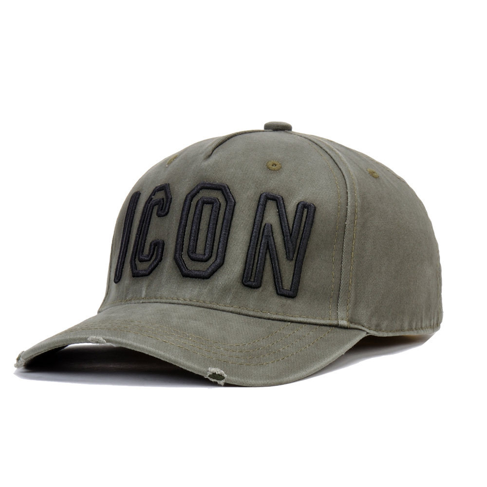 Icon Dsq   Cap   Hat For Men Women Embroidery Pattern   Baseball     Cap   Hip Hop Chapeau Homme Visor Direct Wholesale Czapka z daszkiem