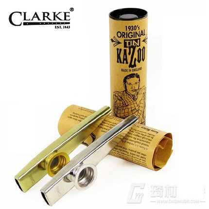 QiCai Clarke Tinwhistle the Origin Tin Kazoo Toy Musical Instrument made in UK