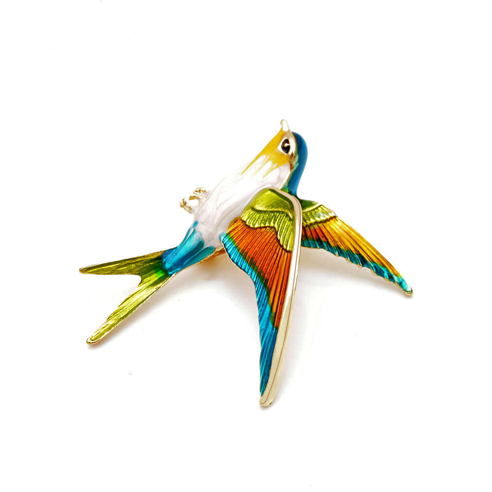 CINDY XIANG New Arrival Enamel Swallow Brooches for Women Spring Design Style Animal Pins Fashion Jewelry Coat Accessories Gift