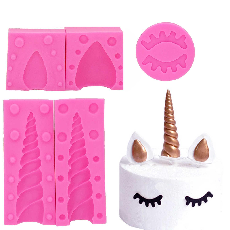 يونيكورن أنيمي قالب من السيليكون السكر كرافت قالب فندان أدوات تزيين الكعكة الشوكولاته gumhang أدوات المطبخ T1180