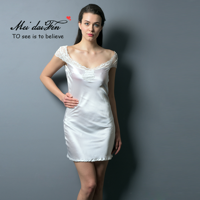 Meidaifen New Model Nighties Women Silk Sleepwear Satin -4214