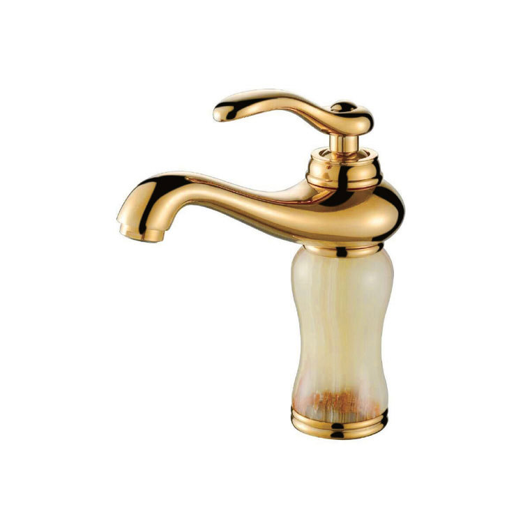 European Antique Kitchen Faucet Brass Polished Gold Basin Faucets White Jade Single Handle Sink Mixer Taps Hot Cold Deck Mounted с рахманинов этюды картины для фортепиано соч 33 и 39