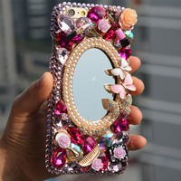 Luxury Diamond Bling Mirror For Samsung Galaxy S6 S5 S3 S4 Note 2 Note3 Note4 I9600