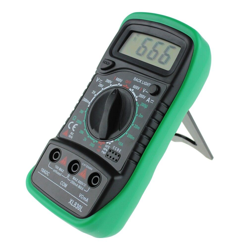 Digital Multimeter Voltmeter Ammeter AC/DC OHM Volt Tester LCD Test Current Multimeter with Overload Protection