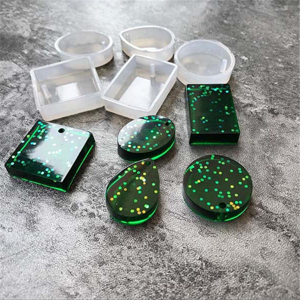 4/5pcs Mix Style Pendant Fashion Scrapbooking Silicone Mould DIY Resin Decorative Craft Jewelry Making Mold Epoxy Resin Molds