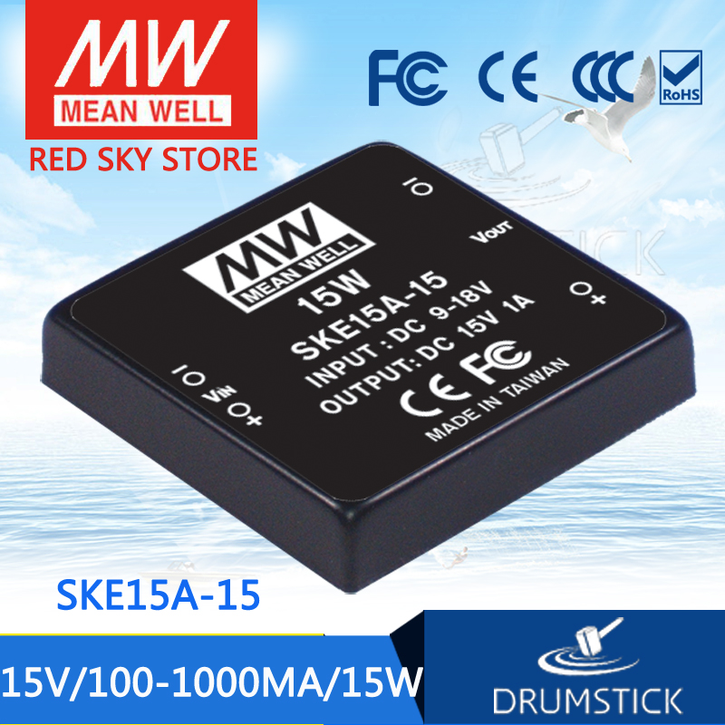 Advantages MEAN WELL SKE15A-15 15V 1000mA meanwell SKE15 15V 15W DC-DC Regulated Single Output Converter advantages mean well ske15c 12 12v 1250ma meanwell ske15 12v 15w dc dc regulated single output converter