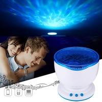 1pc US EU Plug Multicolor Romantic Aurora Master LED Light Ocean Wave Light Projector Lamp For