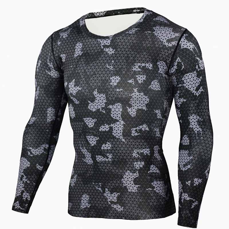 Men's Underwear Thermo Shirt Long Sleeve Men Quick Dry Sport Clothes For Men Camouflage Pijama Termica Underwear Top Inner Shirt