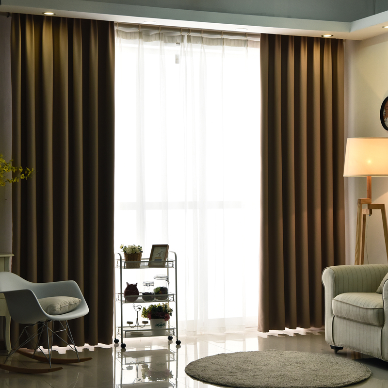 cortina de tela de seda imitado urijk alta shading cortina de tela cortinas para la sala