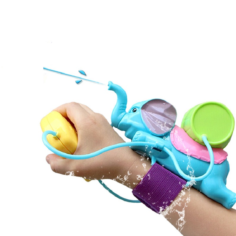 Wigrow Summer Water Pistol Elephant Water Impact Paddle Toy Children's Shower Head Toy Wrist Strap Squirt Gun 100ml Range 8M