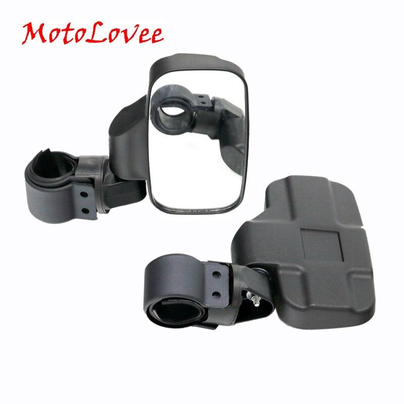 MotoLovee miroir de vue universel automatique UTV pour 1.6-2 pouces Roll Cage Bar rétroviseur latéral UTV verre trempé à fort Impact
