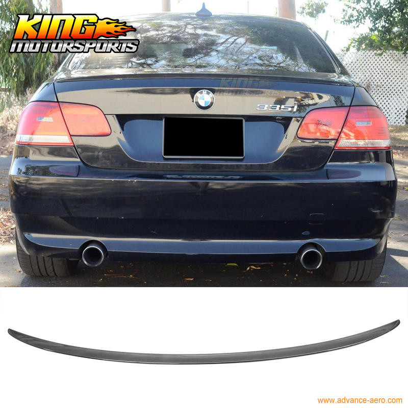 For 07 08 09 10 11 12 13 BMW E92 Coupe M3 Trunk Spoiler OEM Painted Match # 475 Black Sapphire bmw m3 e30 coupe