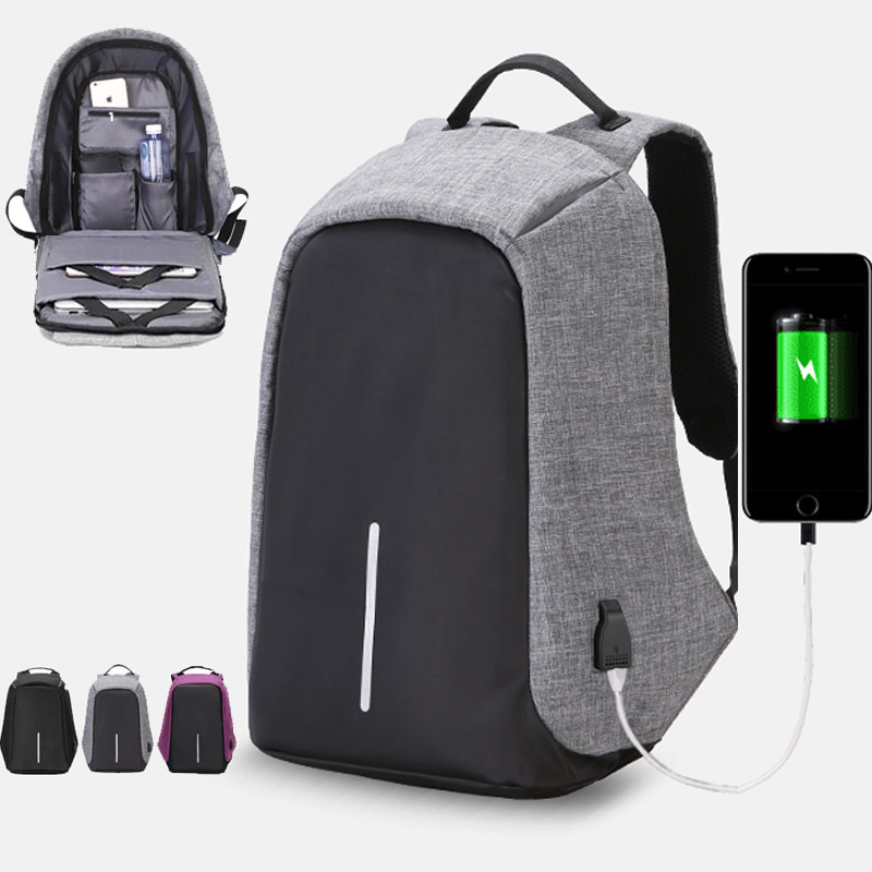 Men Business Backpacks Anti-theft Laptop Rucksack with USB Charging Design Waterproof School Bag for Teenagers Mochila Masculina mochila antirrobo