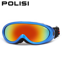 POLISI Winter Snowboarding Ski Goggles Children Kids UV400 Windproof Snow Glasses Anti-Fog Skateboard Sport Protective Eyewear