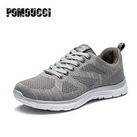 2017 New Jogging Running Shoes Man Sport Mesh Breathable Male Footwear Black Gray Athletic Sneakers Lightweight
