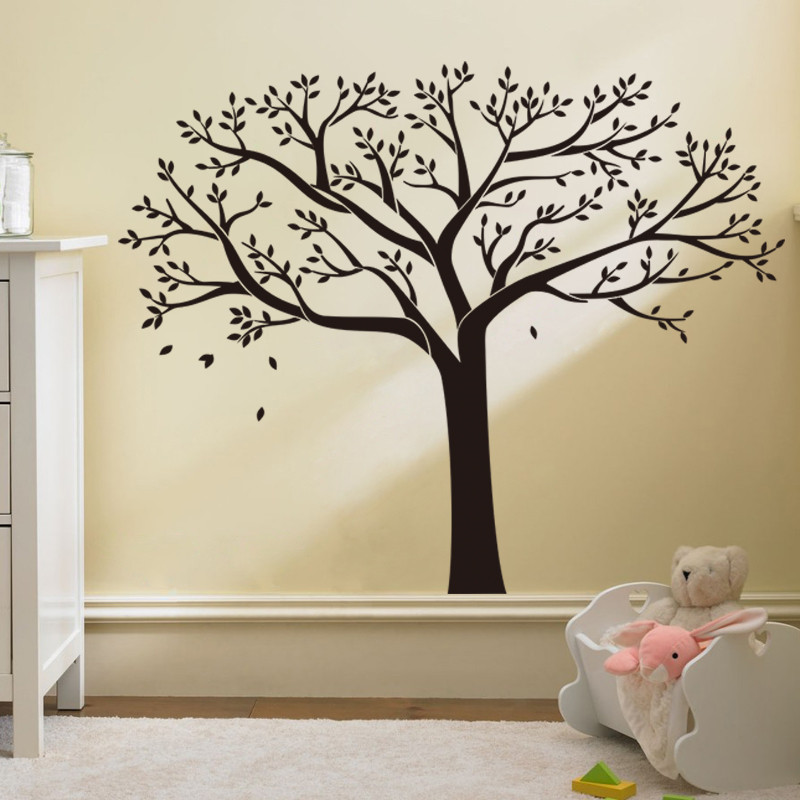 Pvc Wall Sticker Tree Vinilos Nombre Wallpaper Home Decor Family Decal Photo Acrylic In Stickers From Garden