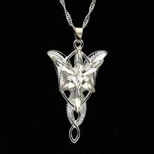 Arwen Evenstar ожерелье принцесса эльфов Мода Кристалл серебро кубический цирконий камень кулон Искрящиеся ювелирные изделия для женщин