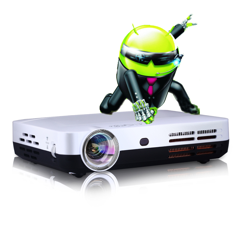 Mini Portable DLP 1280*800 Home Theatre Projector Built-in Android 4.2 Support HDMI/AV/VGA